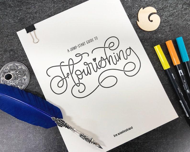 Beginners Flourishing Guide for Hand & Brush Lettering image 0
