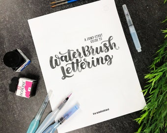 Beginners Guide to Water Brush Lettering