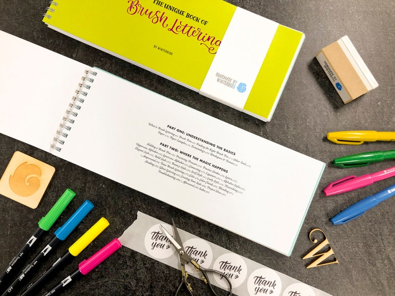 The Unique Book of Brush Lettering Signed image 0