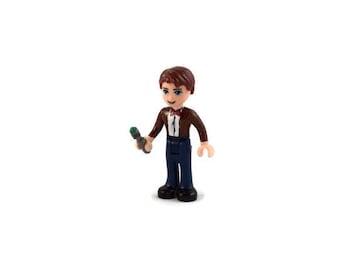 Custom LEGO Friends Doctor Who Eleventh Doctor Minifigure