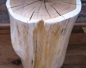Items Similar To White Tree Stump Side Table I On Etsy - White tree stump side table