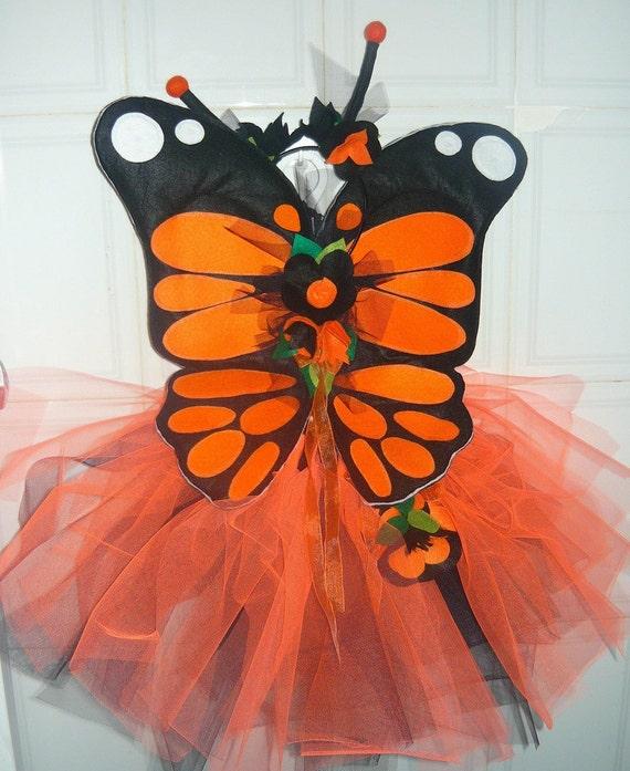 Plush Wire Free Monarch Butterfly Wings