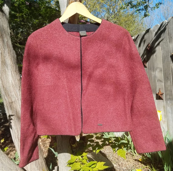 Vintage Original Boos Austrian Plum Wool Sweater