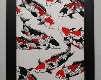 Handmade Papers of the World - Koi II - Professionally Framed