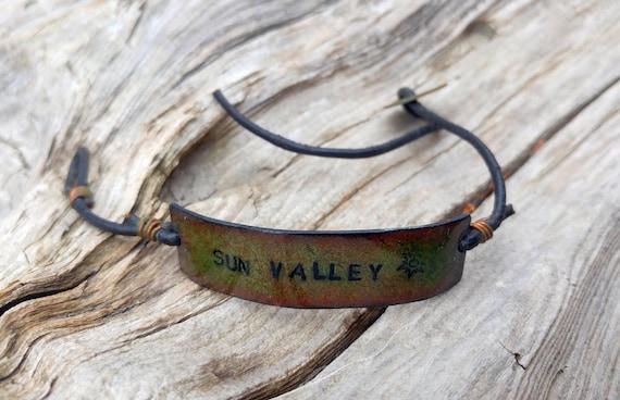 Handmade Sun Valley Copper Enamel Bracelet