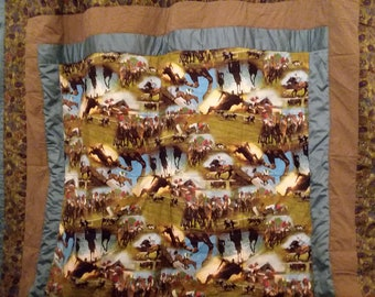 Going to the Races Queen Quilt