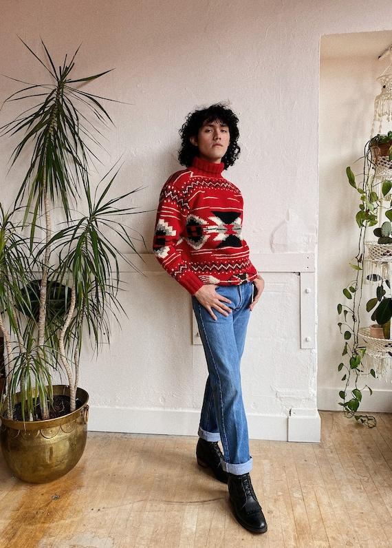 1980s Ralph Lauren Navajo Inspired Wool Sweater - image 3