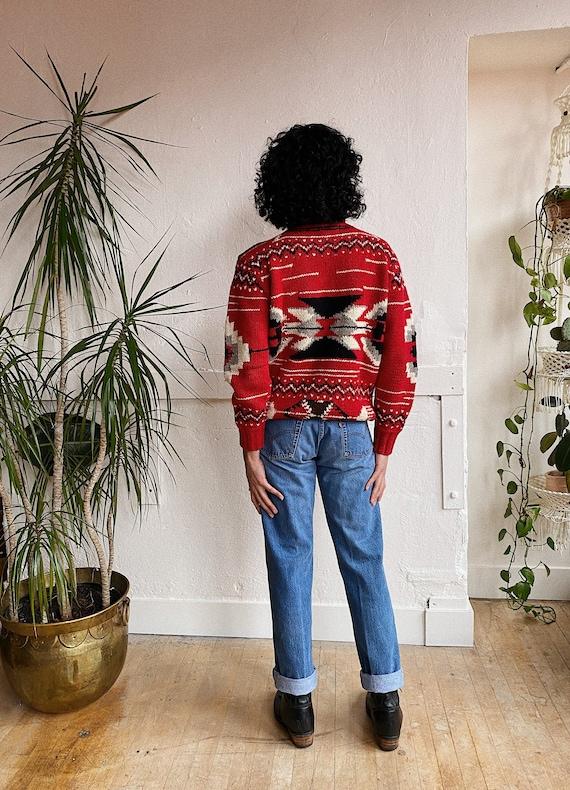 1980s Ralph Lauren Navajo Inspired Wool Sweater - image 5