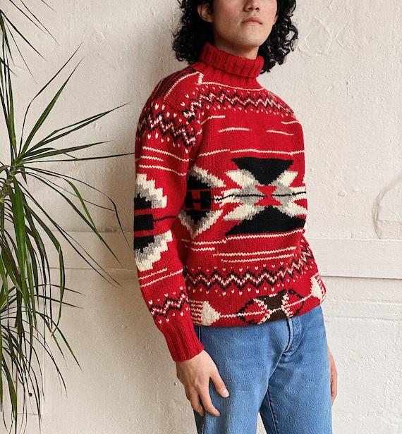 1980s Ralph Lauren Navajo Inspired Wool Sweater - image 4