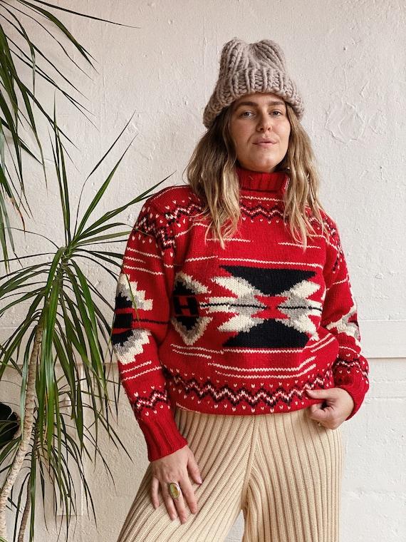 1980s Ralph Lauren Navajo Inspired Wool Sweater - image 1
