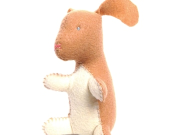 ON SALE Bunny rabbit stuffed animal- Tan with cream (Ready to ship!)