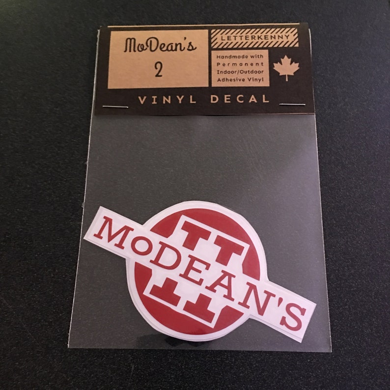 MoDean's II decal or sticker  4 inches image 0