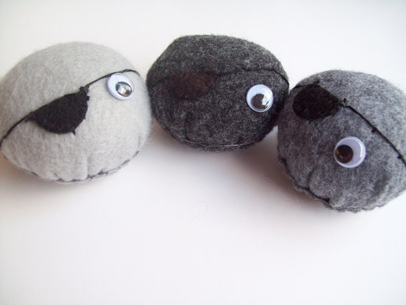 Pet rock small with pirate eye patch You choose 1 image 0
