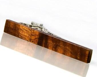 Hawaiian Koa Wooden Tie Clip Koa Wood Tie Bar Hawaiian Jewelry For Him Hawaii Gifts Under 30 Wedding Gift For Groomsmen 5th Anniversary Gift