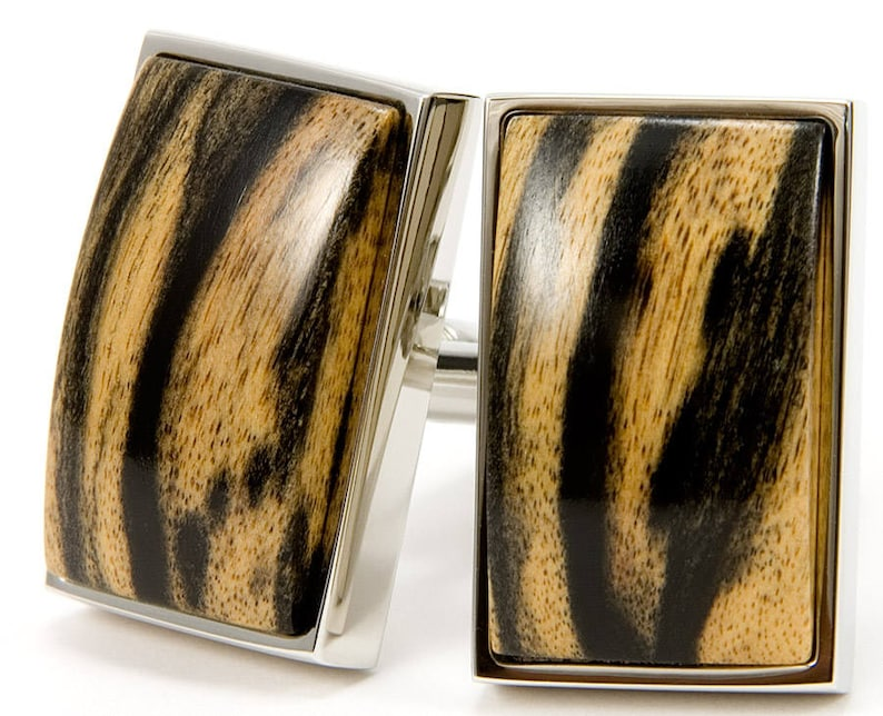 ff674198d2e0 Wooden Cufflinks Gift For Men One Of A Kind Black   White