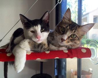 Polka Dots, Circles -  Curious Cats Window Perch
