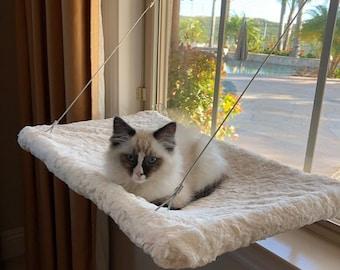 Light Colors, Faux Fur - Curious Cats Window Perch