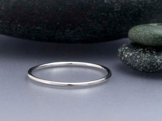 1mm PLATINUM 950 wedding ring band Hatton Garden Hand made Halo stacking ring