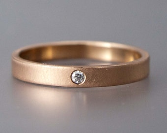 Custom order for Sara | 4mm flat 14k white gold band with blue sapphire