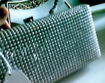 PlasticGlitter Box HandBag purse c 1950s 1960s  RARE