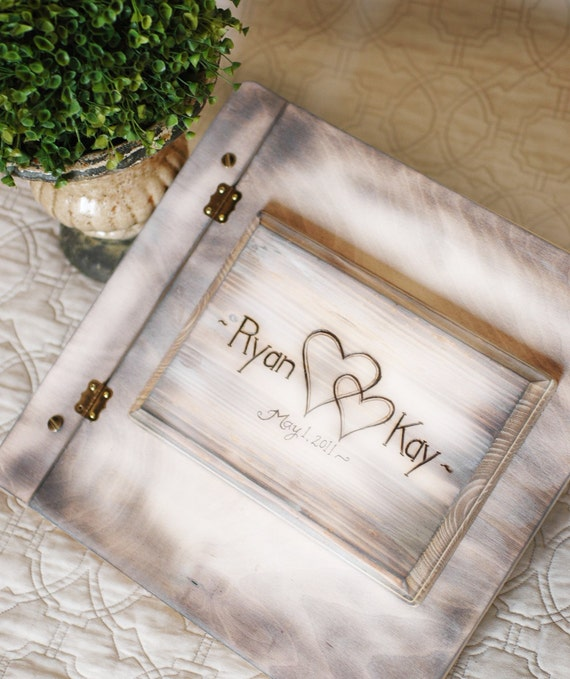 Personalised Wedding Photo Albums: Items Similar To Shabby Chic Rustic Wedding Album Or Guest