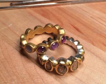 Diamond Wedding Ring, handmade