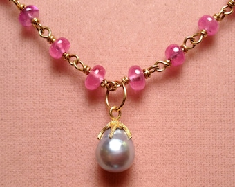 Silver Pearl with 22k gold granulation  cap