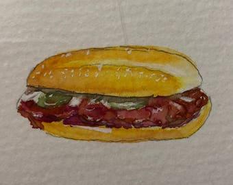 McDonald's McRib Watercolor