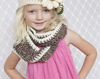 Slouchy Hat / Scarf Wrap Cowl Scarflette / Kids Toddler Hat / Cowl Slouchy Hat Photo Prop / Gift Hat Fall Winter Scarf Hat Kids/ Slouchy Hat