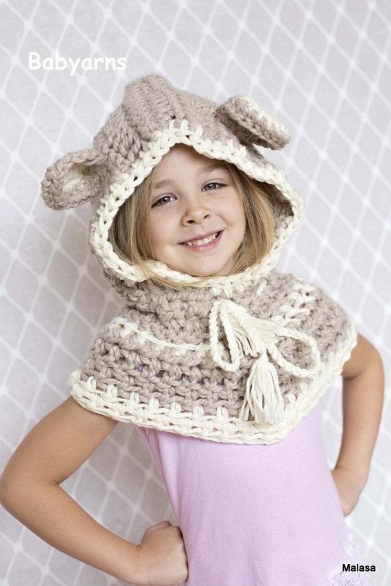 Bär Kinder Hut Häkeln Stricken Bear Hoodie Schal Hut Tier Baby Etsy