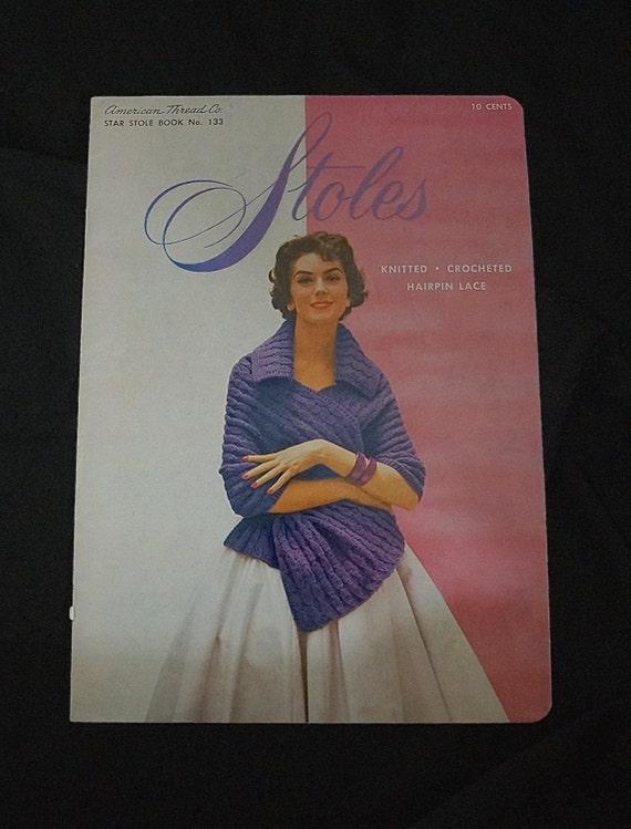 Ähnliche Artikel wie 1950er Jahren stricken häkeln Muster Booklet ...