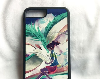 Printed iPhone and Samsung phone case - Haku and Chihiro Spirited Away