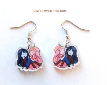 Adventure Time earrings - Bubbline