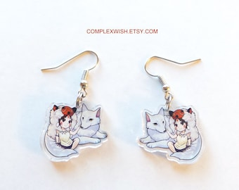 Princess Mononoke earrings - Mononoke