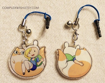 Reversible Adventure Time charm - Fionna and Cake