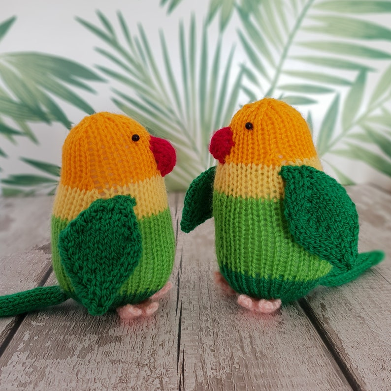Lovebirds knitting pattern  Lucy and Larry  cute love birds image 0