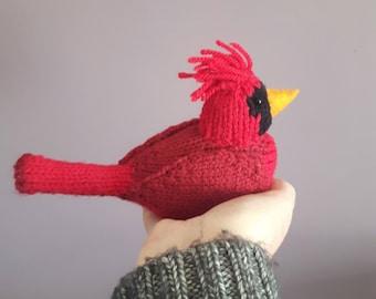 Northern Cardinal knitting pattern - red bird knitting pattern for a cardinal bird