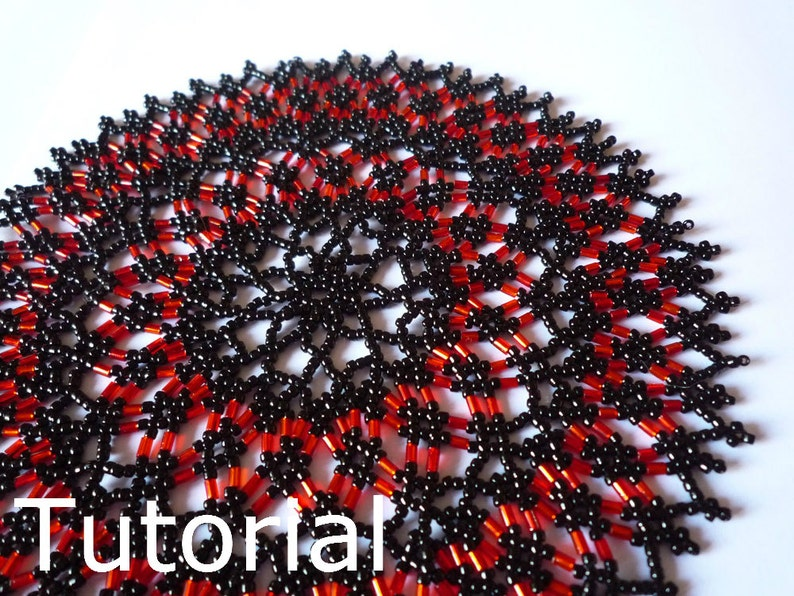 Star Doily Beadwork Pattern/Tutorial  Instant Download image 0