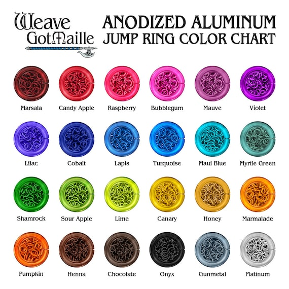 TURQUOISE Anodized Aluminum JUMP RINGS 500 3//16 18g SAW CUT Chainmail chain mail