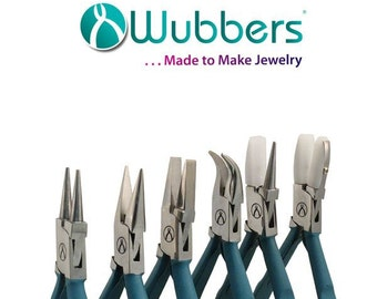 NEW!!! Wubbers Proline Pliers Set with Real Feel Grips - Set of 6 with Wooden Stand