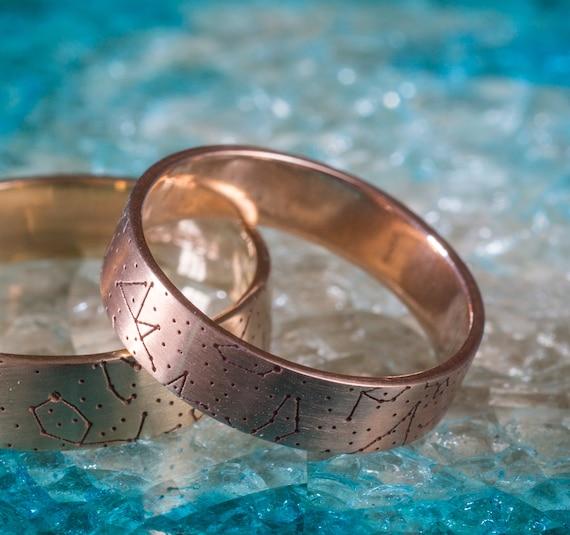 be99158c8b747 Custom Women's Star Map Engagement or Wedding Ring