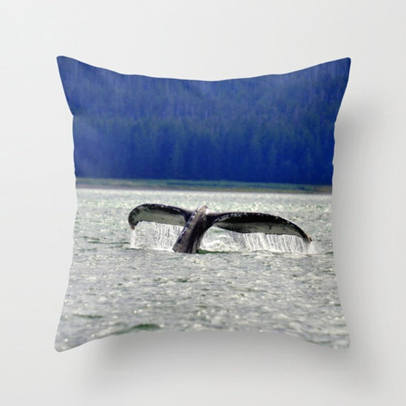Humpback Whale Tail Pillow Throw Pillow Rustic Decor Cabin Etsy
