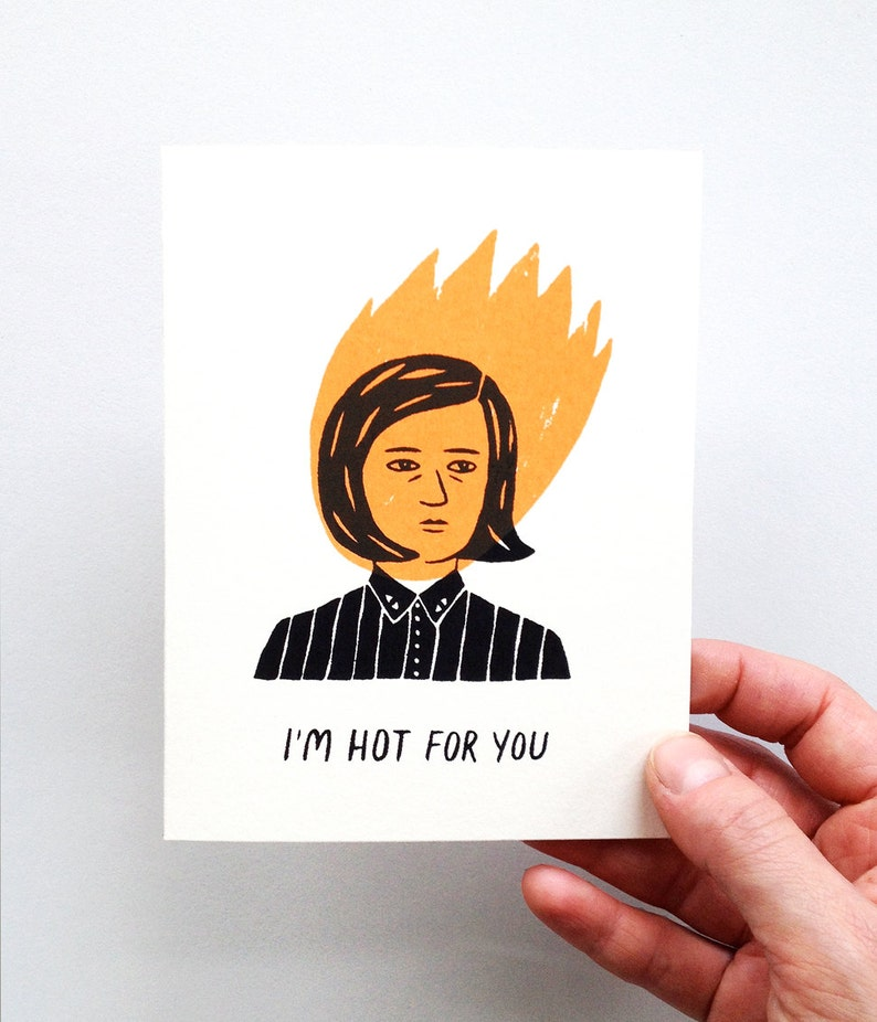 I'm Hot For You  Screen Printed Romance Card image 0