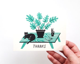 Thanks - Screen Printed Card