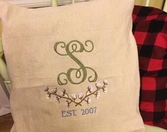 throw pillows, farmhouse, customized