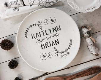 Personalized Porcelain Plate Wedding Anniversary Family Etsy