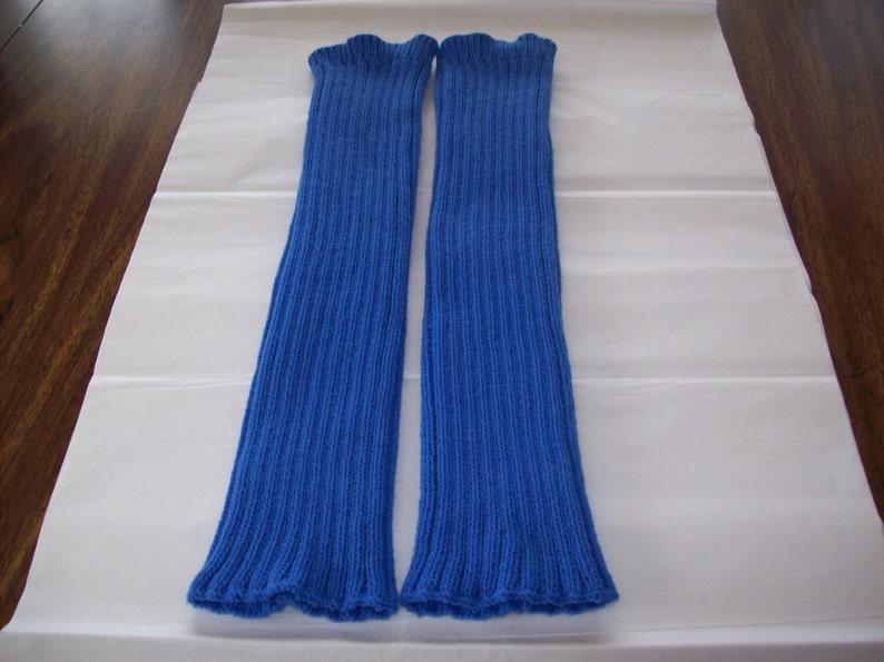 Boot Warmers Royal Blue Legwarmers High Heel Leg Warmers Dance Leg Warmers Custom Knit Blue Knitted Leg Warmers Excercise Leg Warmers