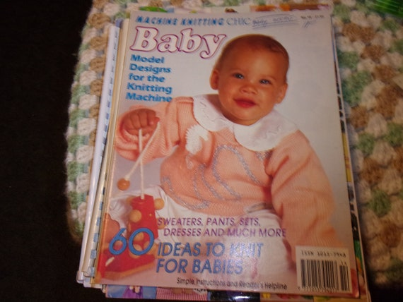 Machine Knitting Magazine Machine Knitting Chic For Baby Etsy