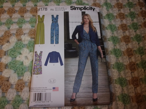 Dress and Jacket Sewing Pattern 8178 Simplicity Misses/' Jumpsuit