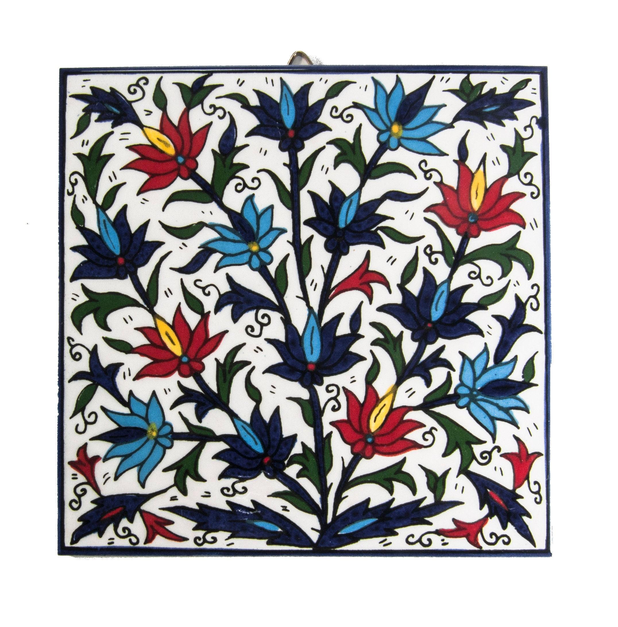 Ceramic Tile Wall Armenian Hanging Tiles Art Handmade Decor Etsy